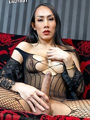 Ladyboy Bella has so much going for her! From her fierce looks and beautiful black hair down to her stunning body.