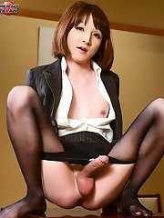 We love Mari Sora! There's just something about a little petite and dainty doll with such a big thick piece of newhalf meat in her panties that r