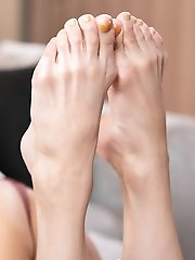 Slim Japanese Shemale Chulin Nakazawa Solo Feet and Leg Fetish