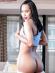 Titi is a sexy Bangkok ladyboy with a stunning body, big perky tits, a great ass and meaty cock!